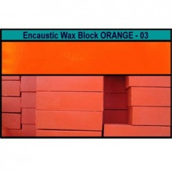 Arts encaustic blocchi - arancio (orange) 03e