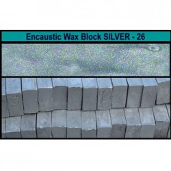 Arts encaustic blocchi - argento (silver metallic) 26s