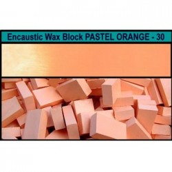 Arts encaustic blocchi - albicocca (pastel orange) 30e
