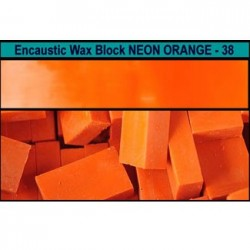 Arts encaustic blocchi - arancio neon (neon orange) 38v