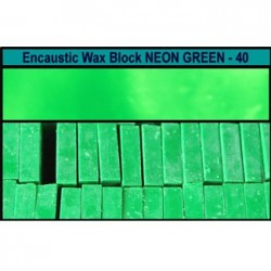Arts encaustic blocchi - verde neon (neon green) 40v