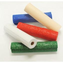 5 rotoli panno glitter