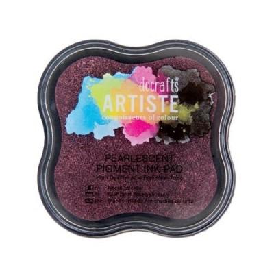 mosaico rosa perlato : ... colori per timbri e polveri > Tampone per timbri Rosa scuro perlato