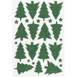 Elfi e alberi di Natale mm 30x40 - 8 pz ass.