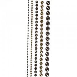Mezze perle adesive, 2-8 mm, marroni 140 asstd