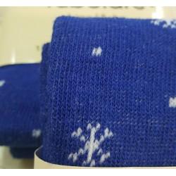 Tubolare Pois BIANCO Sfondo Azzurro