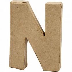 Lettera N in cartapesta