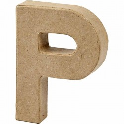 Lettera P in cartapesta