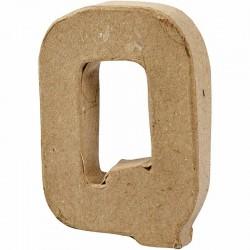 Lettera Q in cartapesta