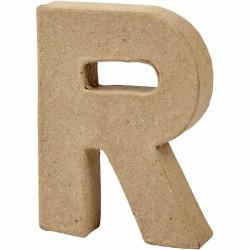 Lettera R in cartapesta