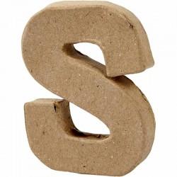 Lettera S in cartapesta