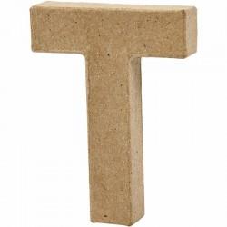 Lettera T in cartapesta