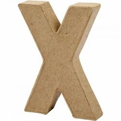 Lettera X in cartapesta