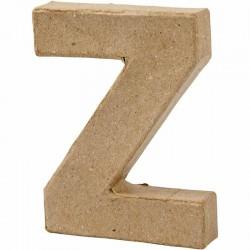 Lettera Z in cartapesta
