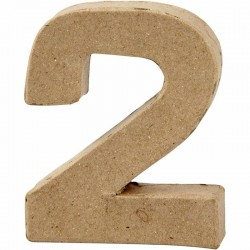 Numero 2 in cartapesta
