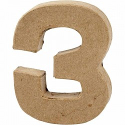 Numero 3 in cartapesta