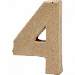Numero 4 in cartapesta