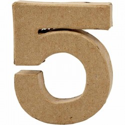 Numero 5 in cartapesta