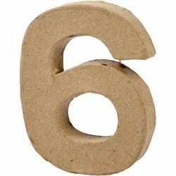 Numero 6 in cartapesta