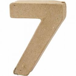 Numero 7 in cartapesta