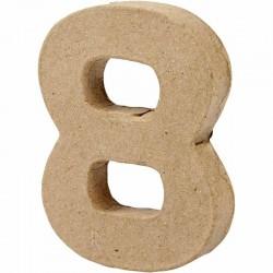 Numero 8 in cartapesta