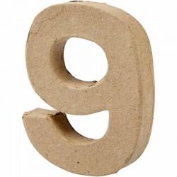 Numero 9 in cartapesta