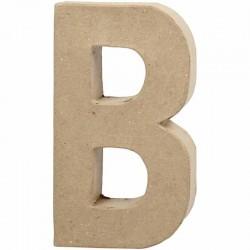 Lettera B in cartapesta