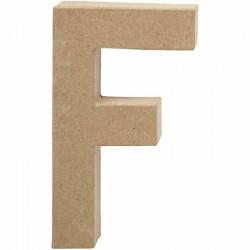 Lettera F in cartapesta