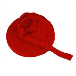 Tubo di maglia, h 4 cm - 1 mt ROSSO NATALE