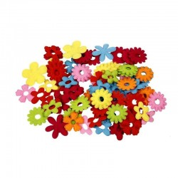 Assortimento fiori in feltro 35x45 mm - 16 pz ass.