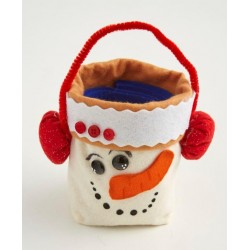 cestino pupazzo di neve