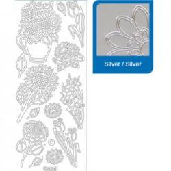 Sticker argento primavera a808