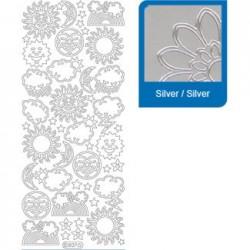 Sticker argento primavera a827