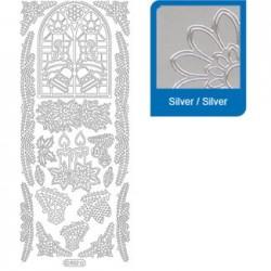 Sticker argento natale a852