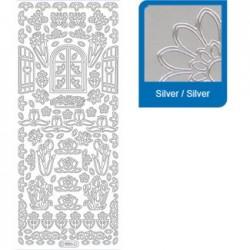 Sticker argento primavera a886