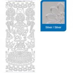 Sticker argento nascita a900