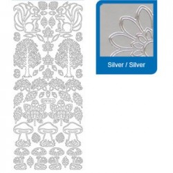 Sticker argento varie a916