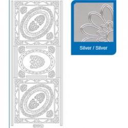 Sticker argento angoli - bordi a934