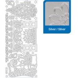 Sticker argento natale a951