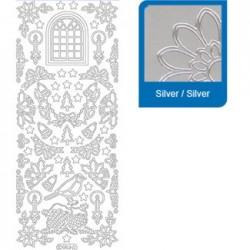 Sticker argento natale a953