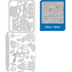 Sticker argento natale a966