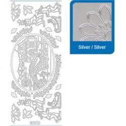 Sticker argento natale a967