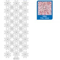 Sticker glitterato rosa 7007
