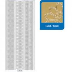 Sticker oro angoli - bordi 1016