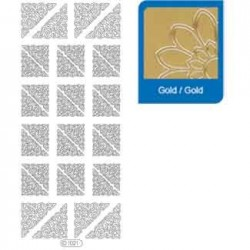 Sticker oro angoli - bordi 1021