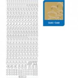 Sticker oro lettere - numeri 815