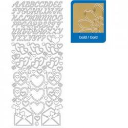 Sticker oro lettere - numeri   824