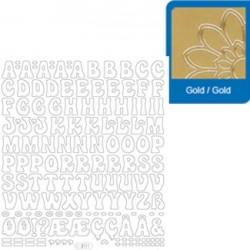 Sticker oro lettere - numeri 3111