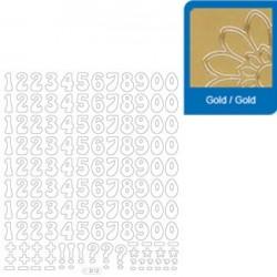 Sticker oro lettere - numeri 3112