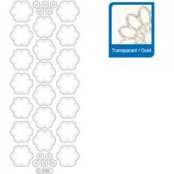 Sticker trasparenti con profilo oro 3182